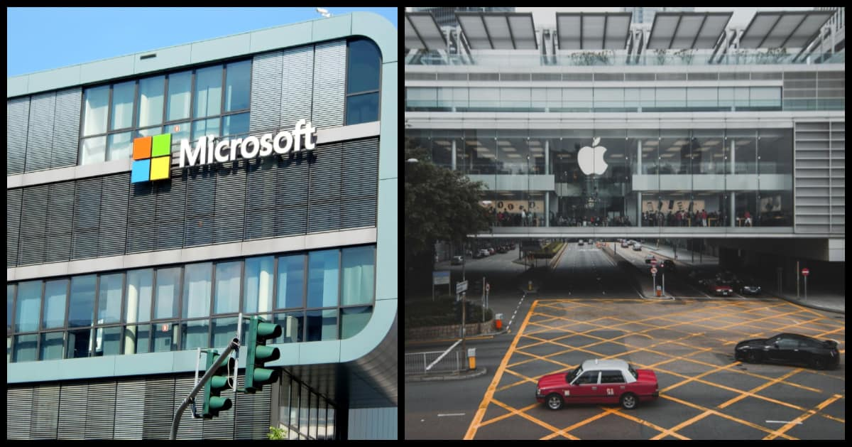 microsoft and apple buildings