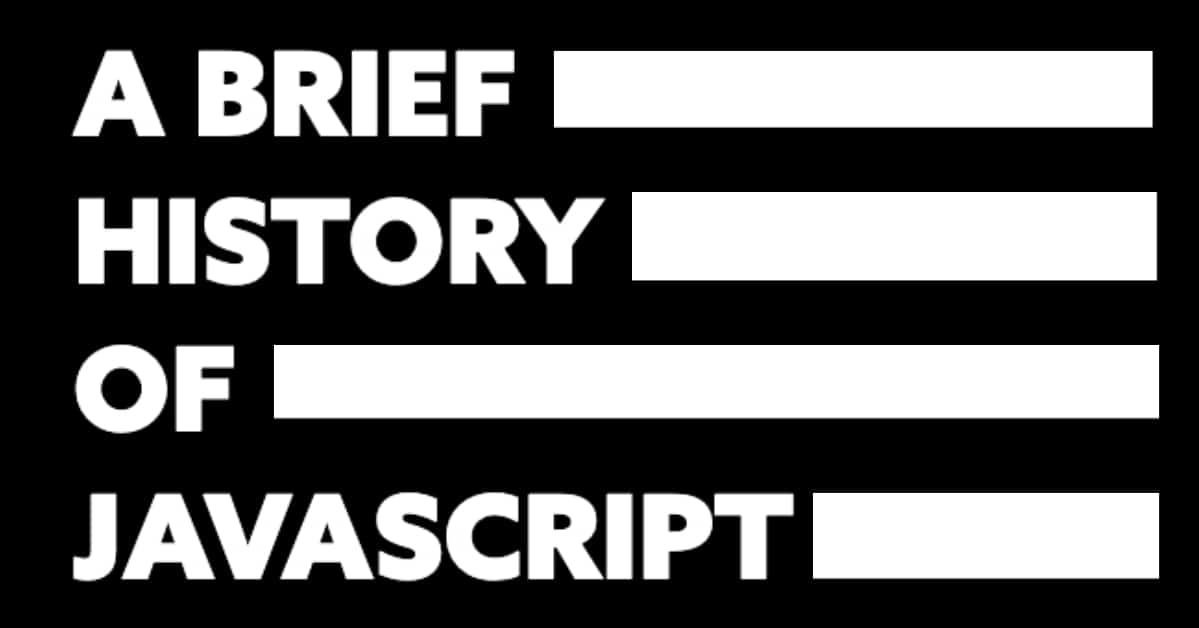 A History Of The Javascript Coding Language