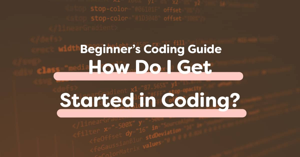 Coder At Computer Getting Started With Code