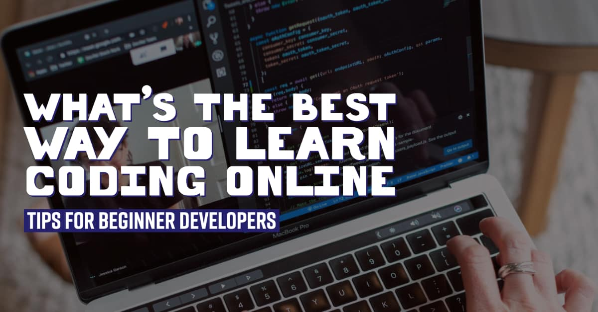 Person At Computer Looking To Learn Coding Online