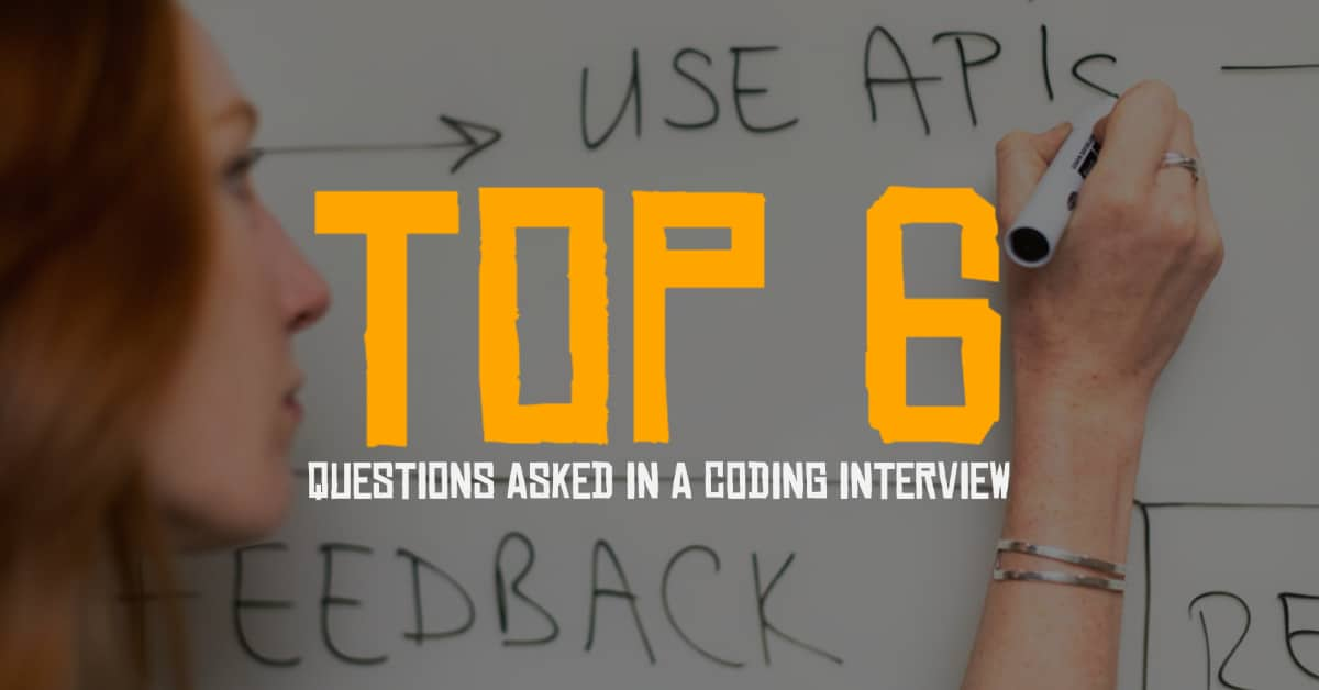 Woman Writing Out A Coding Question During A Coding Interview