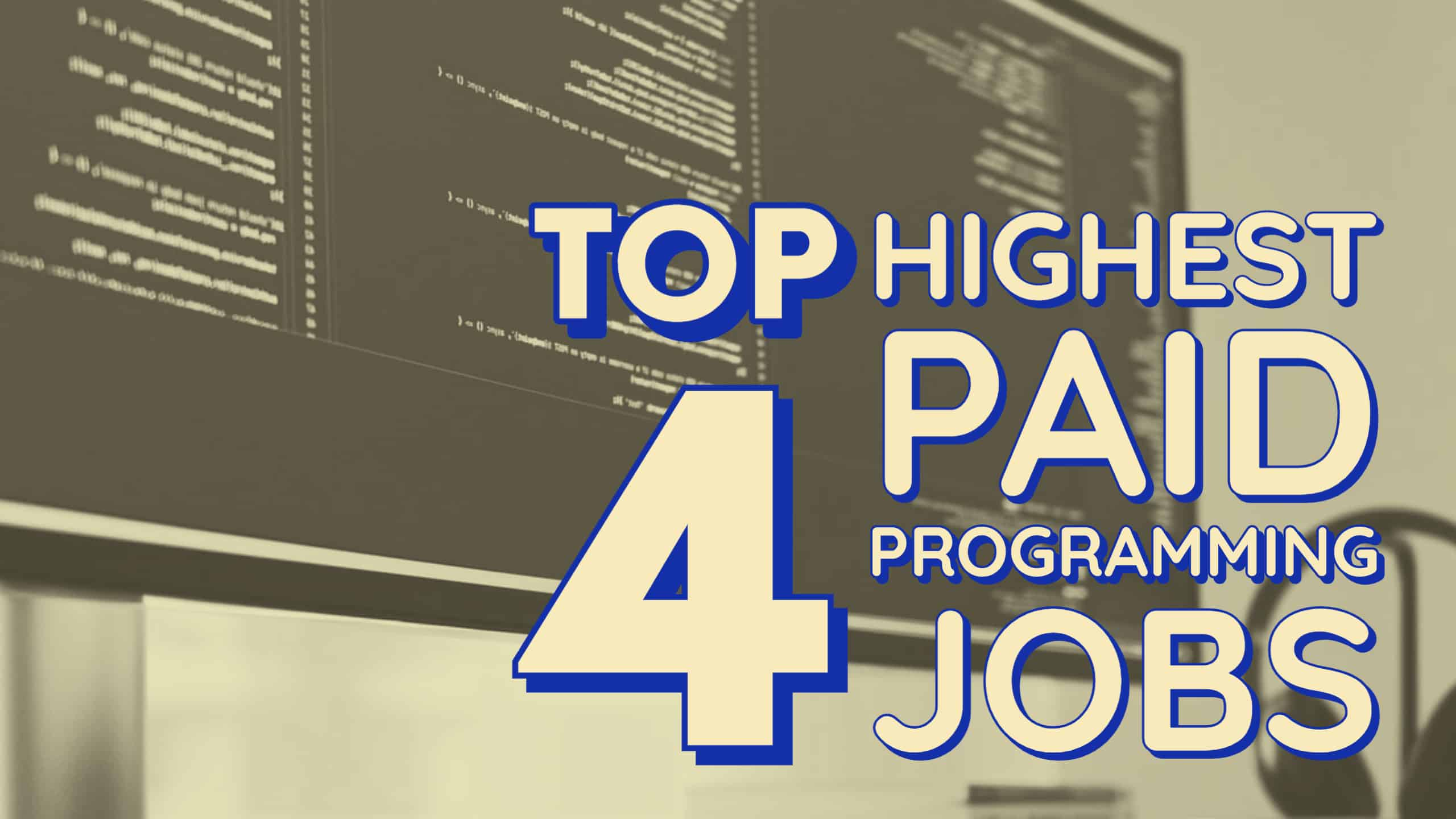 Computer Screen With Highest Paid Programming Jobs On Screen