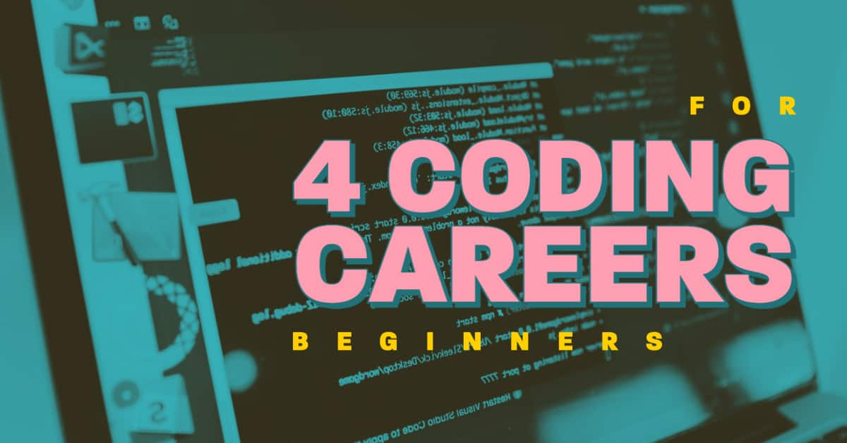 Beginner Coder Working On Computer Launching Coding Career